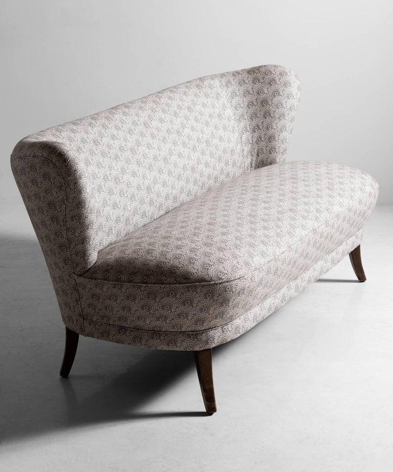 Mid-Century Modern Cocktail Sofa, circa 1950 For Sale