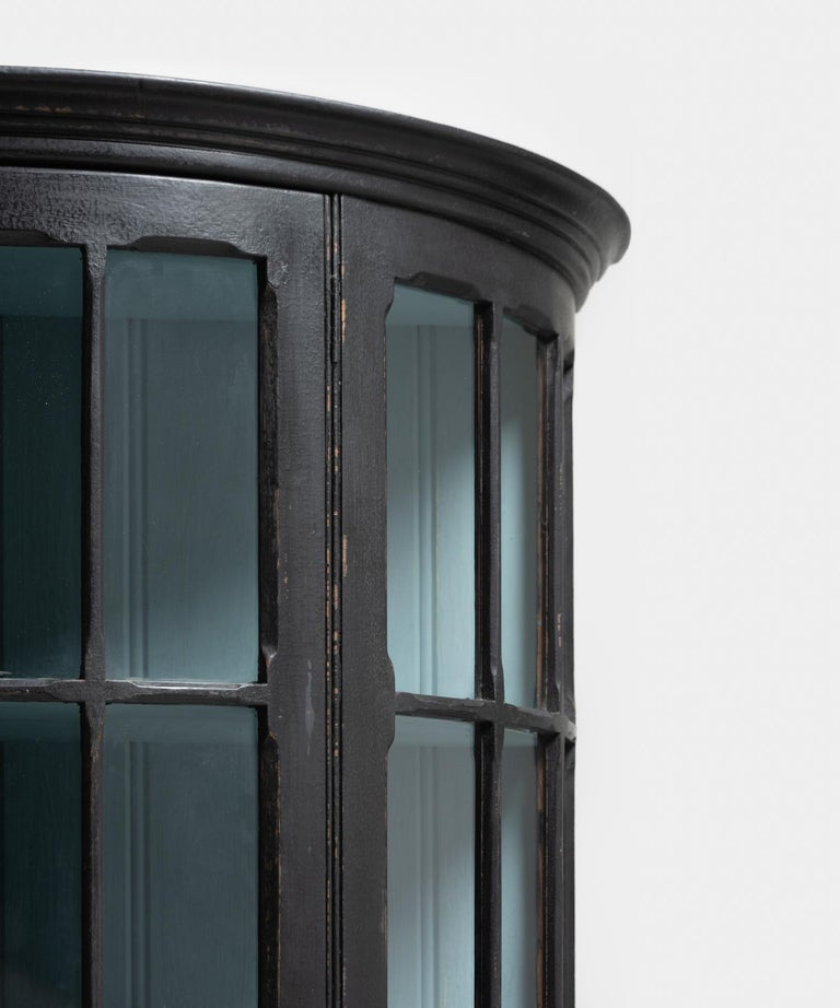 Demilune Display Cupboard, circa 1900 In Excellent Condition For Sale In Culver City, CA