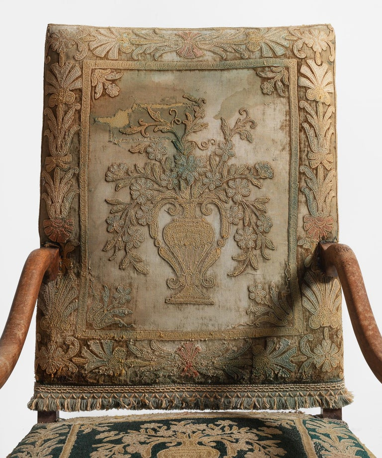 Os de Mouton Tapestry Chair, circa 1870 In Good Condition For Sale In Culver City, CA