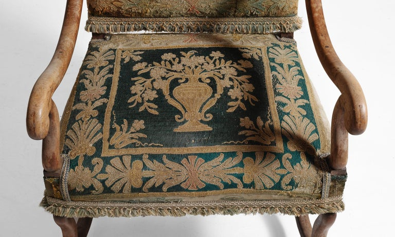 Late 19th Century Os de Mouton Tapestry Chair, circa 1870 For Sale