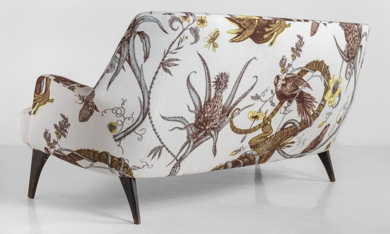 Mid-20th Century Iguana Loveseat Lounge by Bergamo ISA, circa 1950 For Sale