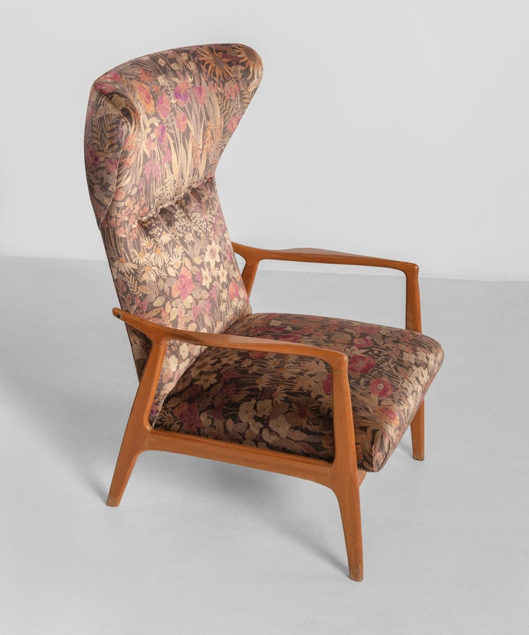 Mid-20th Century Modern Wingback Armchairs, circa 1950 For Sale