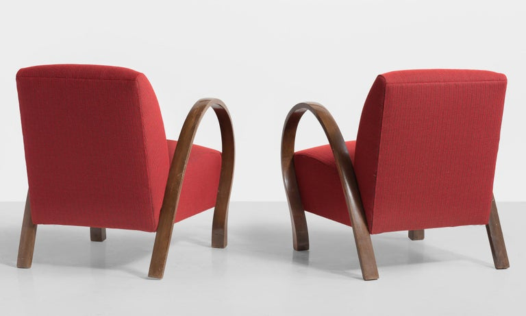 Modern Pair of Bentwood Armchairs, Italy, circa 1930 For Sale