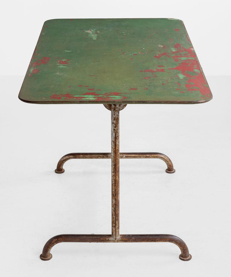 American Iron Factory Table, circa 1920 For Sale