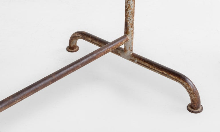 Iron Factory Table, circa 1920 In Good Condition For Sale In Culver City, CA