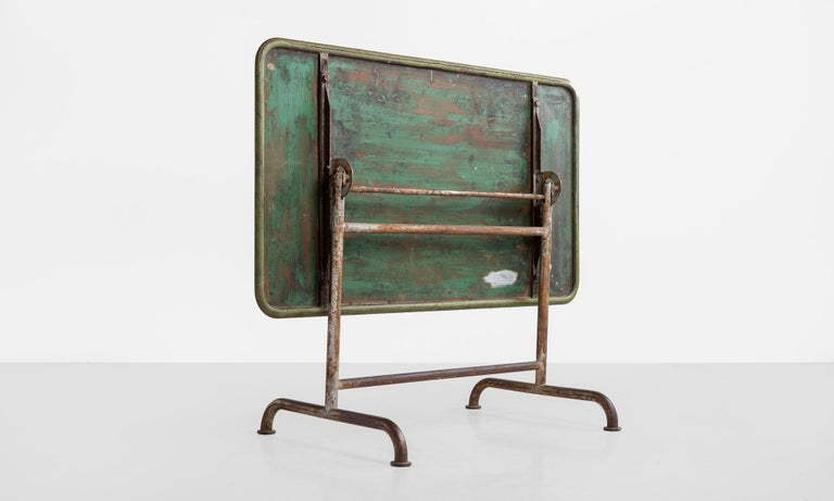 Early 20th Century Iron Factory Table, circa 1920 For Sale