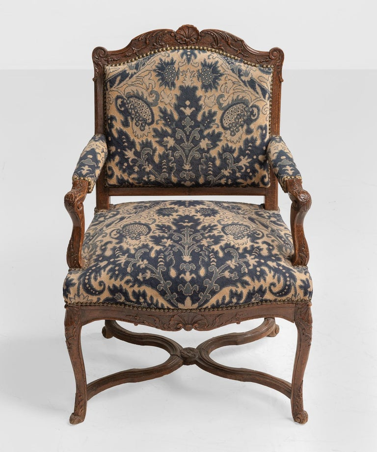English Tapestry Armchairs, circa 1890 For Sale