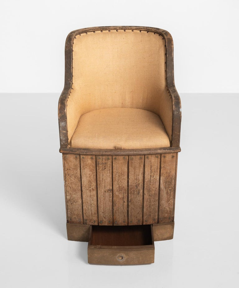 Teak Ships Armchair, circa 1880 In Good Condition For Sale In Culver City, CA