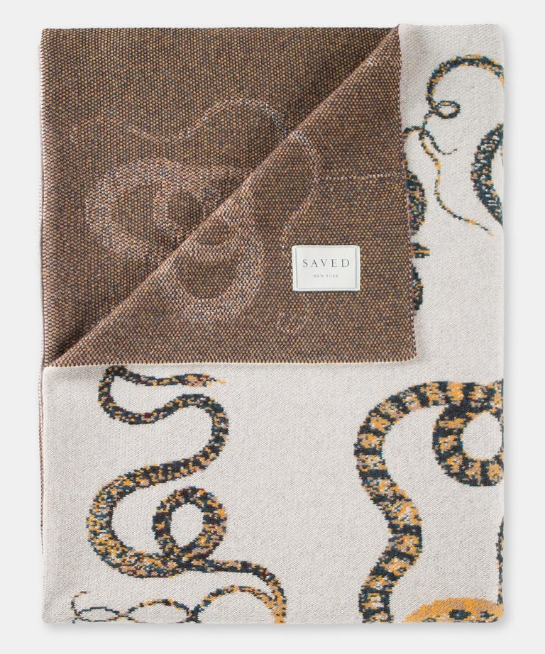 Serpents Throw by Saved New York In New Condition For Sale In Culver City, CA