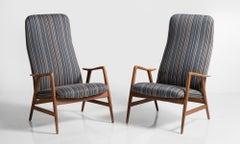 Pair of Kontour Armchairs in Nylon by Alf Svensson, Germany, circa 1950