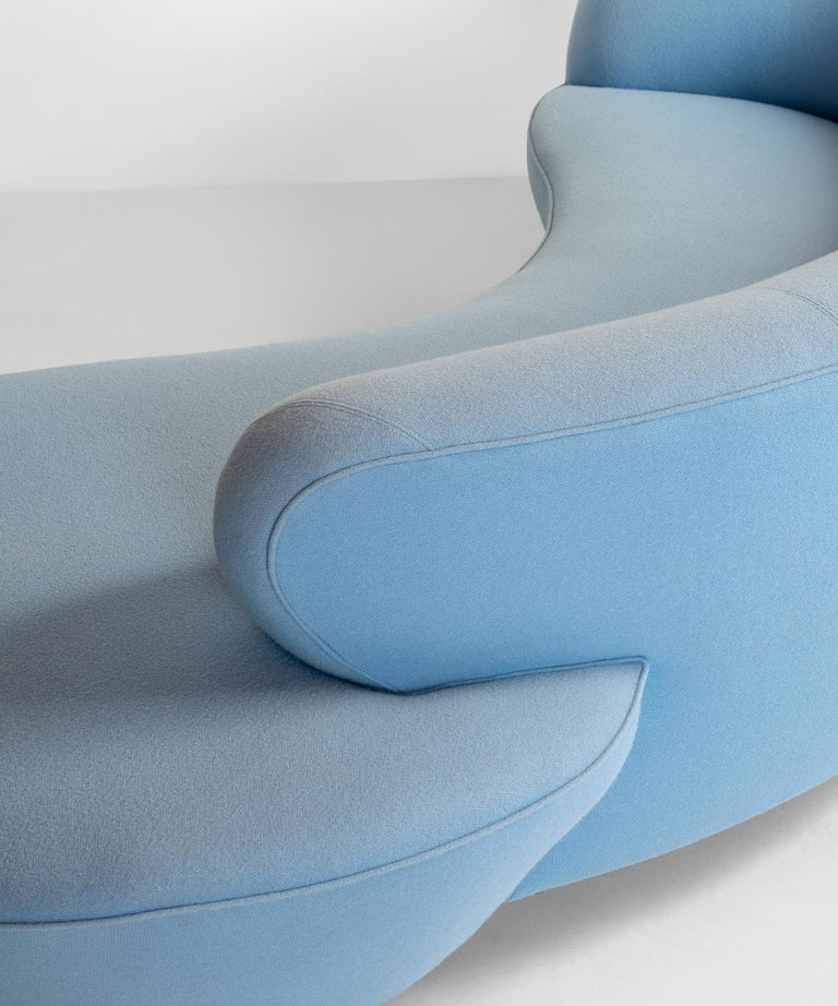 Wool Serpentine Sofa by Vladimir Kagan, circa 1970 For Sale