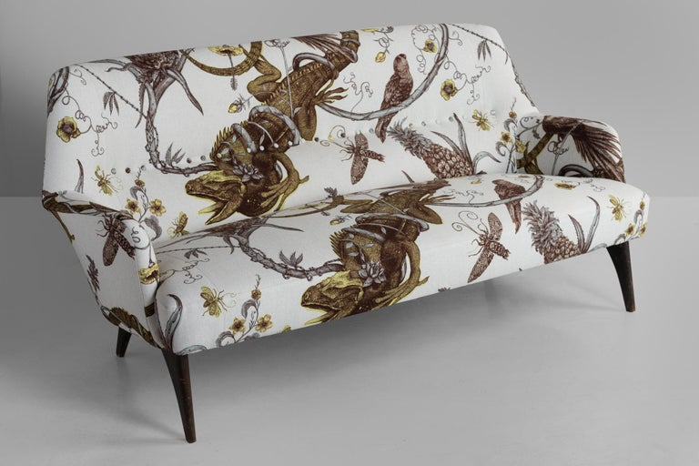 Iguana loveseat lounge by Bergamo ISA, circa 1950