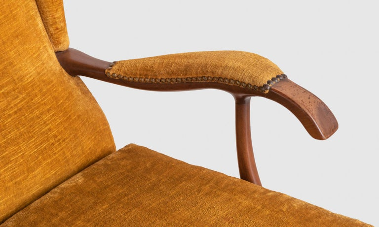 Pair of Paolo Buffa Armchairs, Italy, circa 1960 In Good Condition For Sale In Culver City, CA