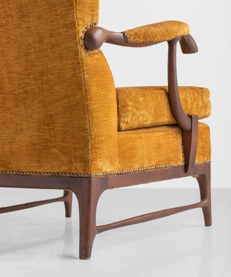 Mid-20th Century Pair of Paolo Buffa Armchairs, Italy, circa 1960 For Sale