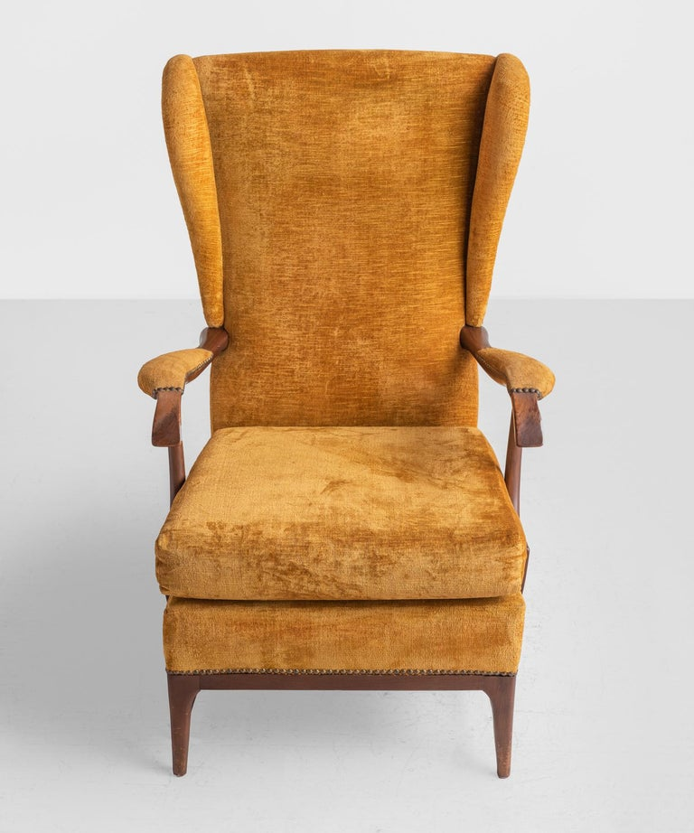 Carved Pair of Paolo Buffa Armchairs, Italy, circa 1960 For Sale