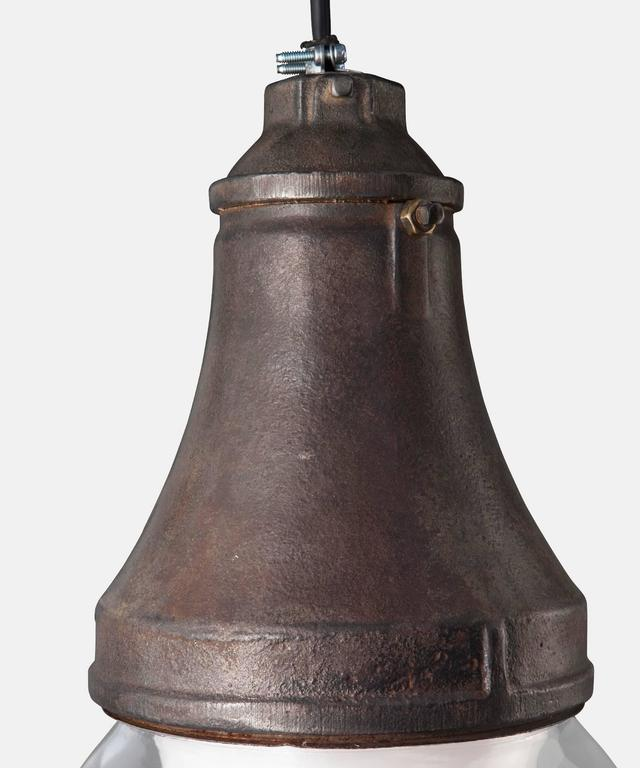 Industrial Oxidized Iron Explosion Proof Pendant, America, 21st century For Sale