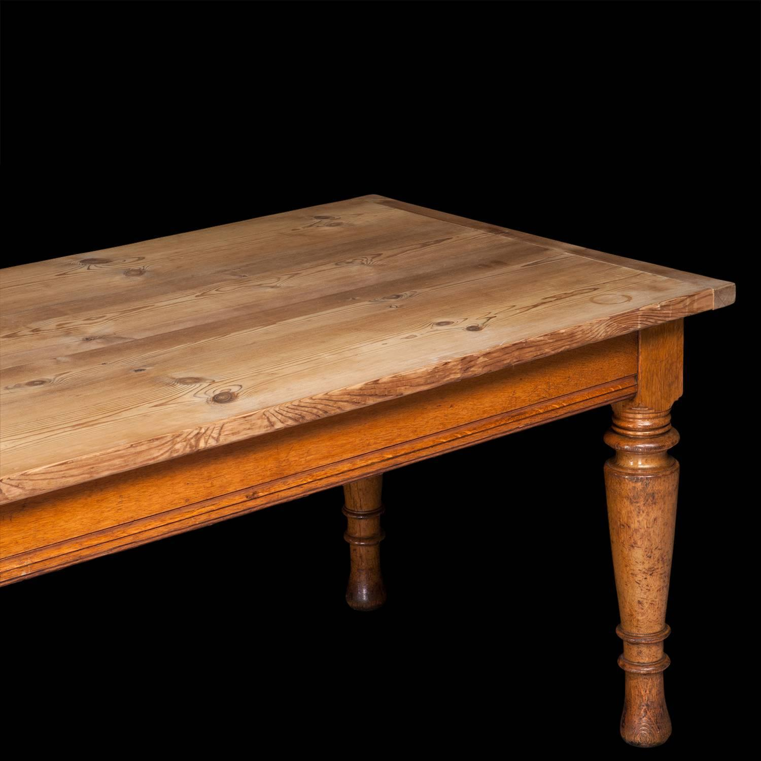 Pine Dining Room Table: Oak And Pine Dining Table At 1stdibs