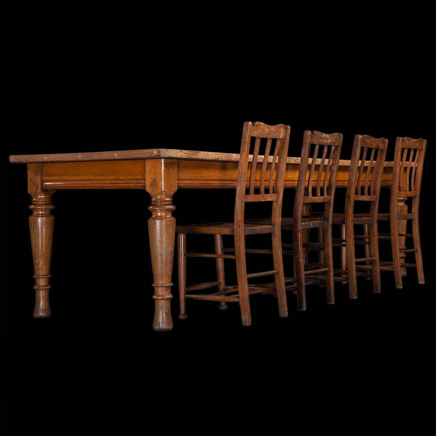 oak and pine dining table at 1stdibs