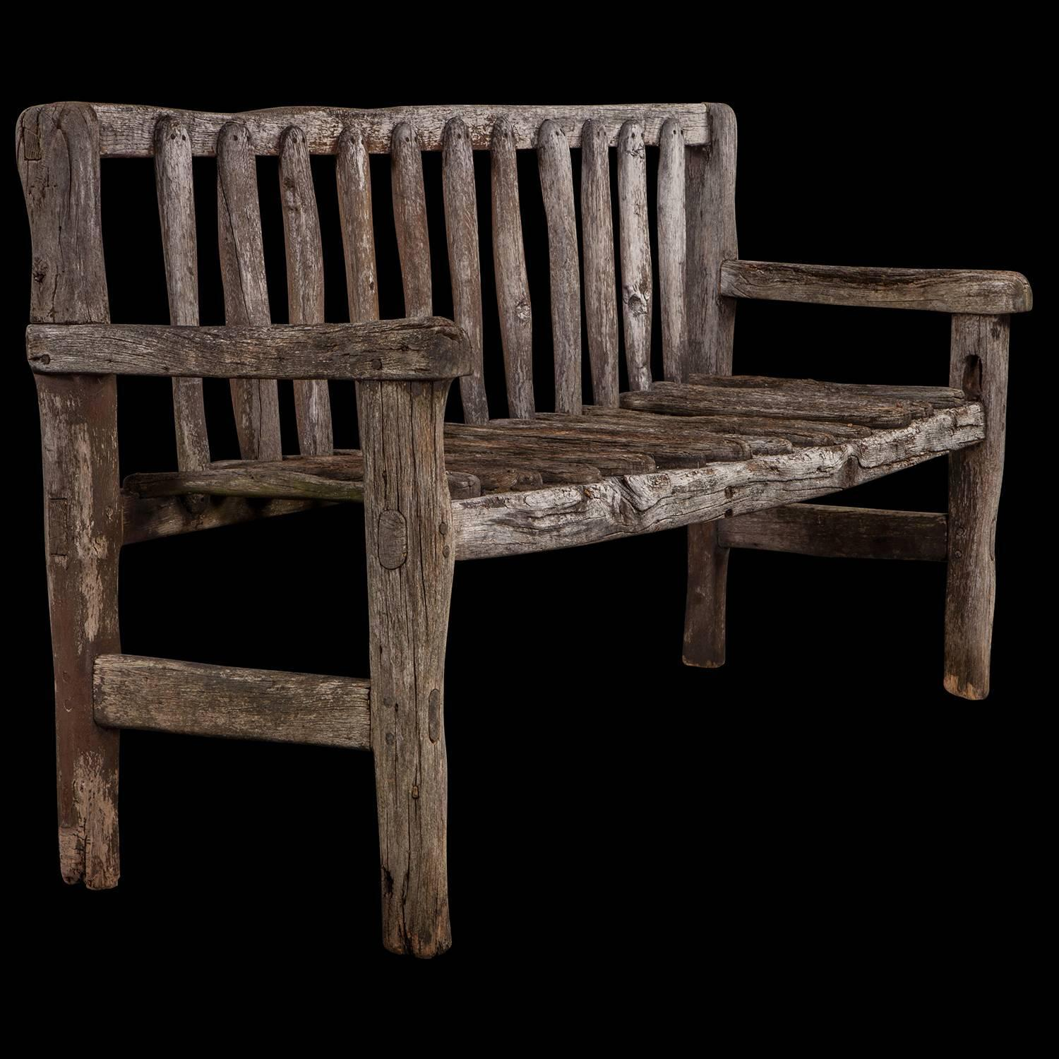 ... Used Furniture Culver City By Primitive Oak Bench With Hand At 1stdibs  ...