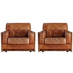 Pair of Arcon Leather Chairs