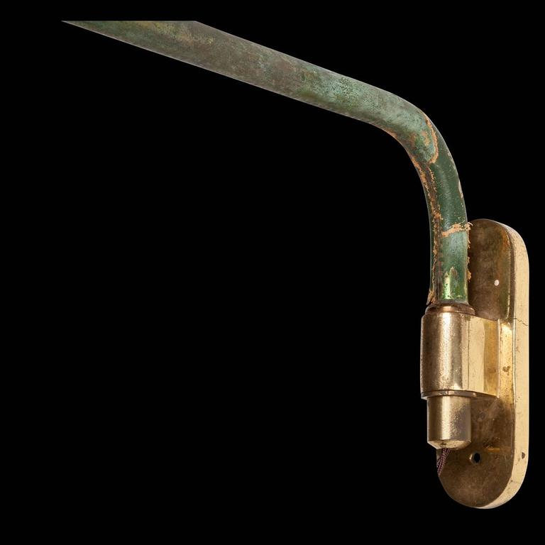 Green Extension Arm Lamp at 1stdibs