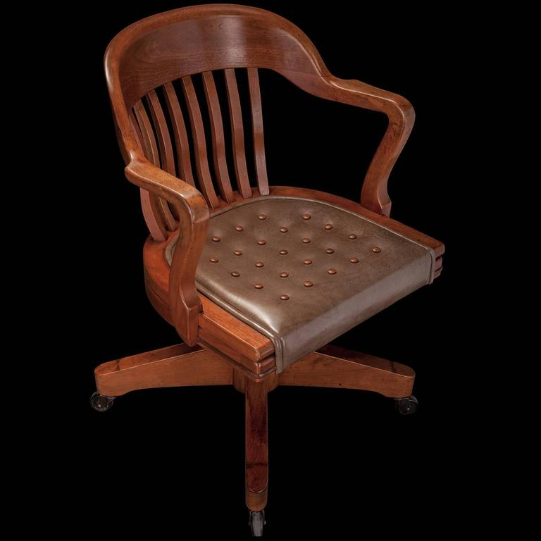 Gunlocke Swivel Chair At 1stdibs