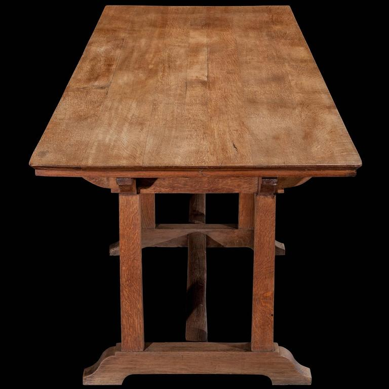 Arts and crafts refectory dining table at 1stdibs for Arts and crafts dining room furniture