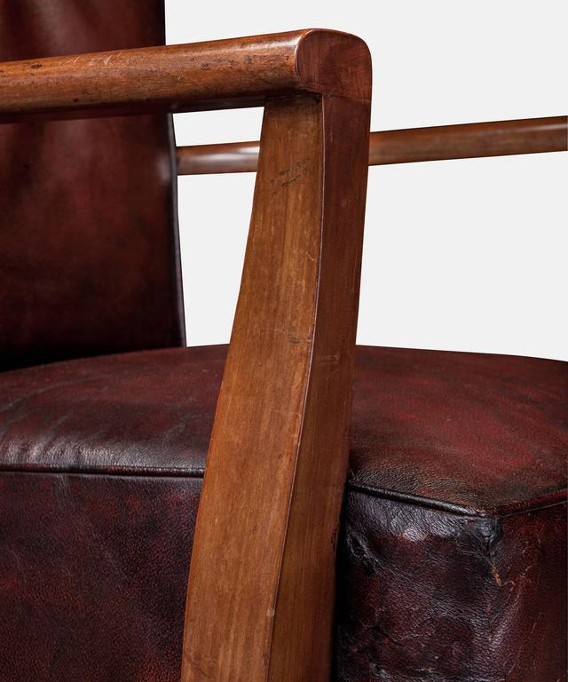 Oxblood Leather Armchairs At 1stdibs