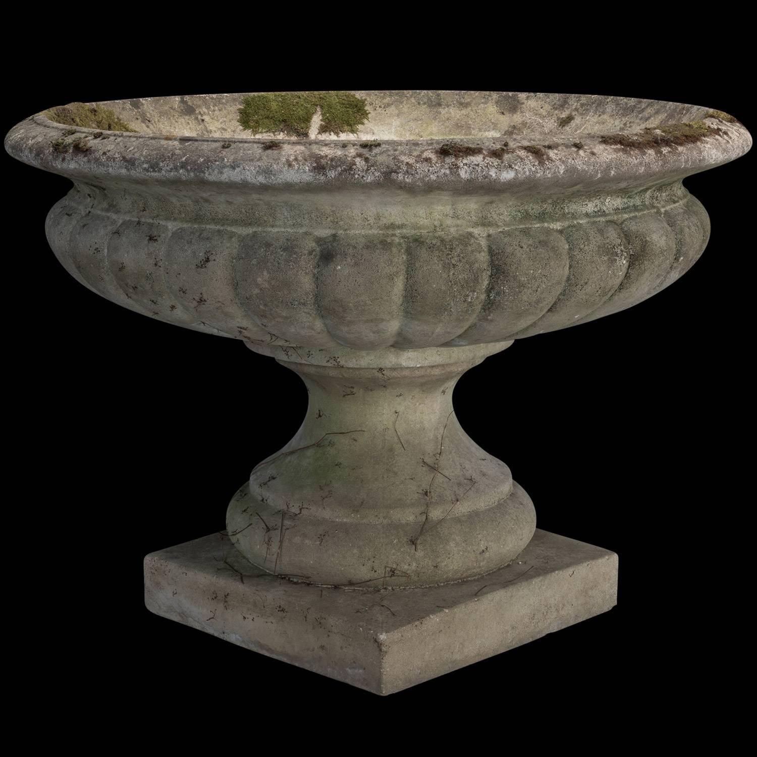 Giant Concrete Garden Urn For Sale at 1stdibs