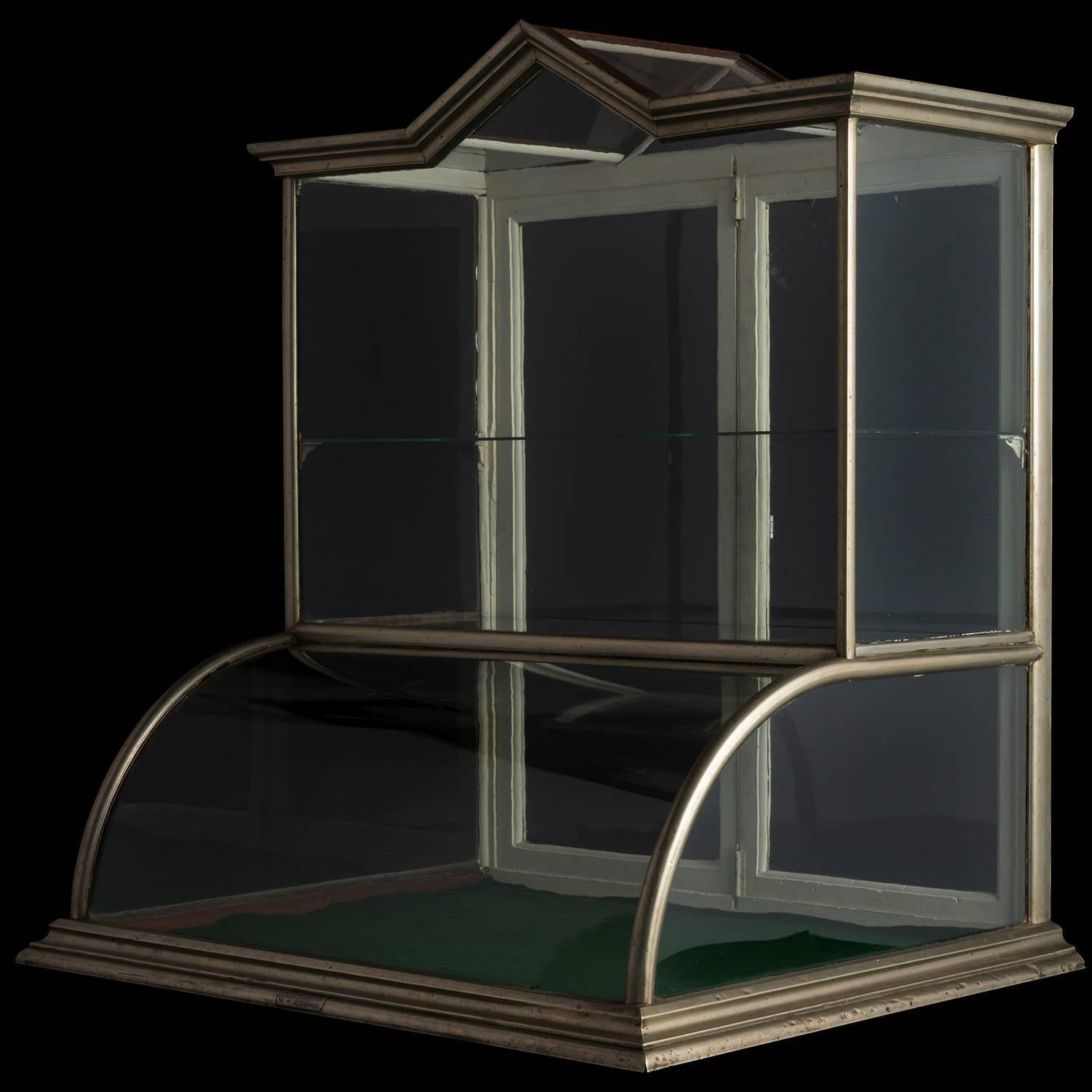 Nickel And Oak Tower Display Case Circa 1880 For Sale At