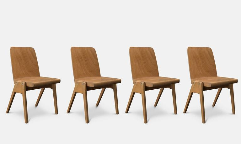 Modern Wooden Stacking Chairs, Circa 1960 3