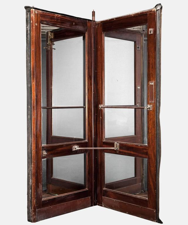Dutch Hotel Revolving Door Circa 1950 For Sale
