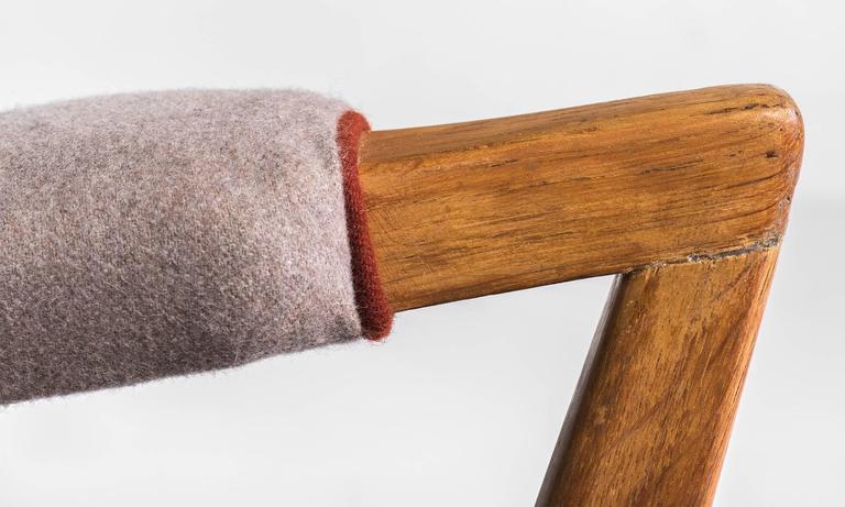 Upholstered Modern Oak Armchairs, circa 1950 5