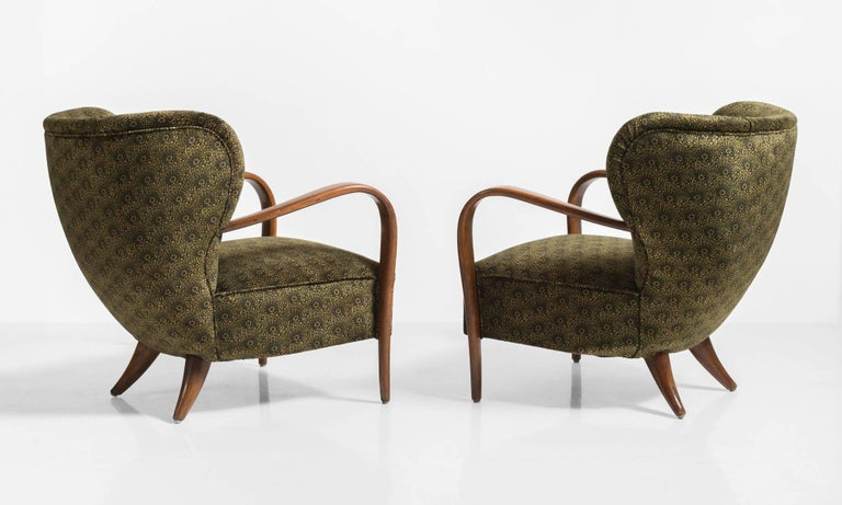 Modern Pair of Deco Armchairs, Italy circa 1930 For Sale