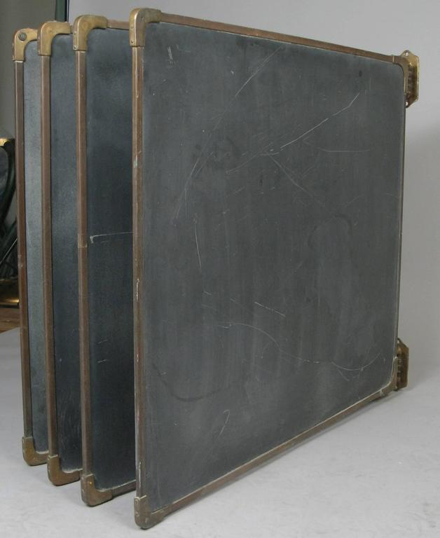 Set of Antique Slate and Bronze Chalkboards 3