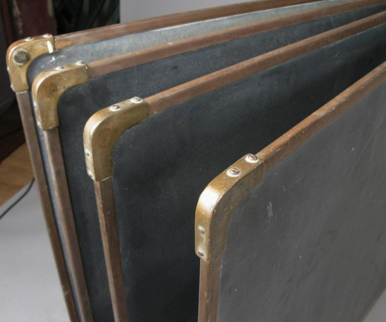 Set of Antique Slate and Bronze Chalkboards 4