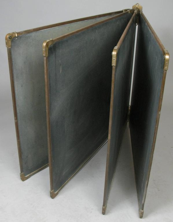 Set of Antique Slate and Bronze Chalkboards 2