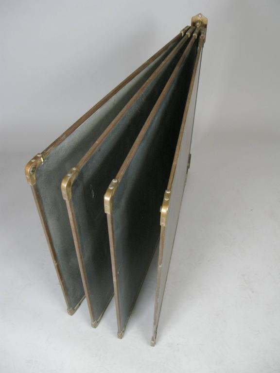 Set of Antique Slate and Bronze Chalkboards 5