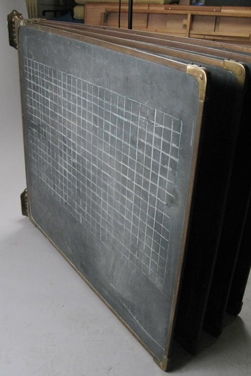 Set of Antique Slate and Bronze Chalkboards 6