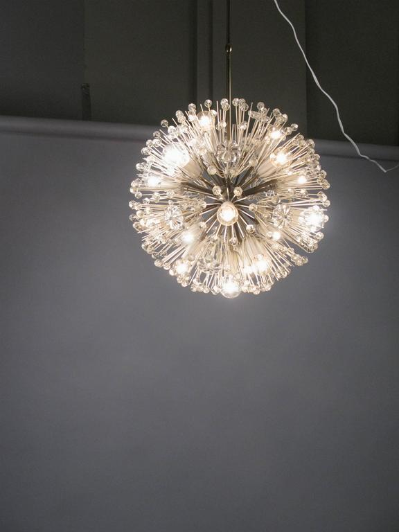 1950s Austrian Brass and Glass Chandelier by Emil Stejnar For Sale 1