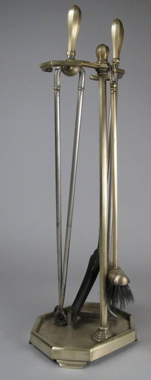 Set of Antique Brass Fireplace Tools at 1stdibs