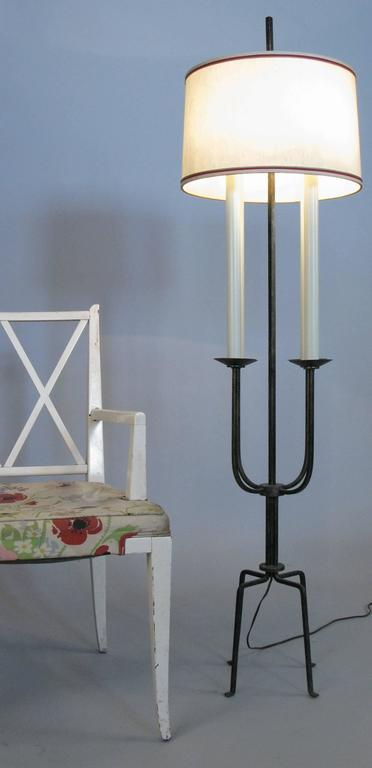 1940's Modern Floor Lamp by Tommi Parzinger In Good Condition For Sale In Hudson, NY