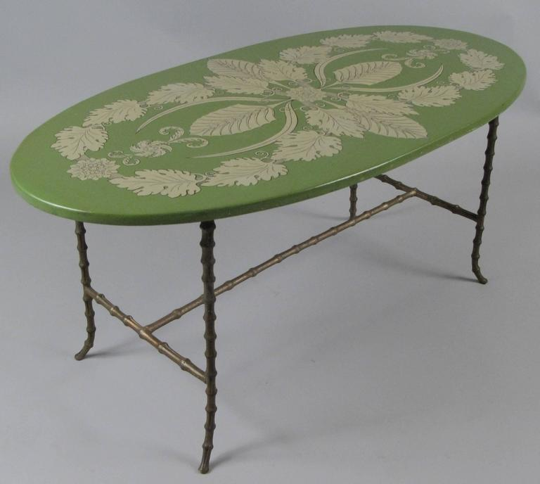 Elegant Gilt Bronze And Acanthus Leaf Table By Piero Fornasetti 2