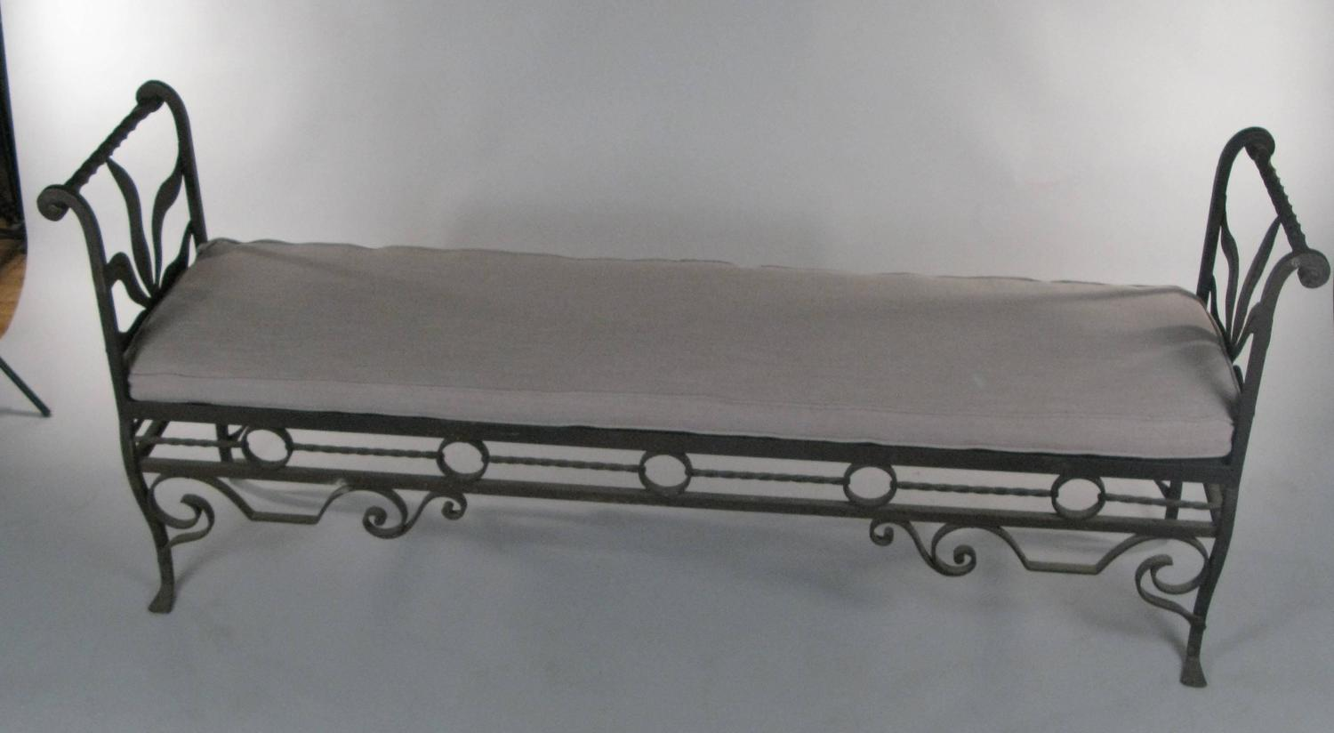 Antique 1920s Wrought Iron Bench At 1stdibs