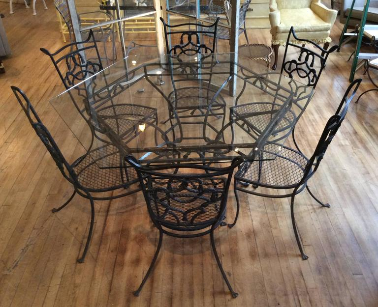 Vintage Wrought Iron Kitchen Table And Chairs - Vintage
