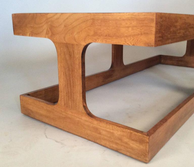 Vintage 1960s Walnut And Glass Coffee Table By Milo Baughman At 1stdibs