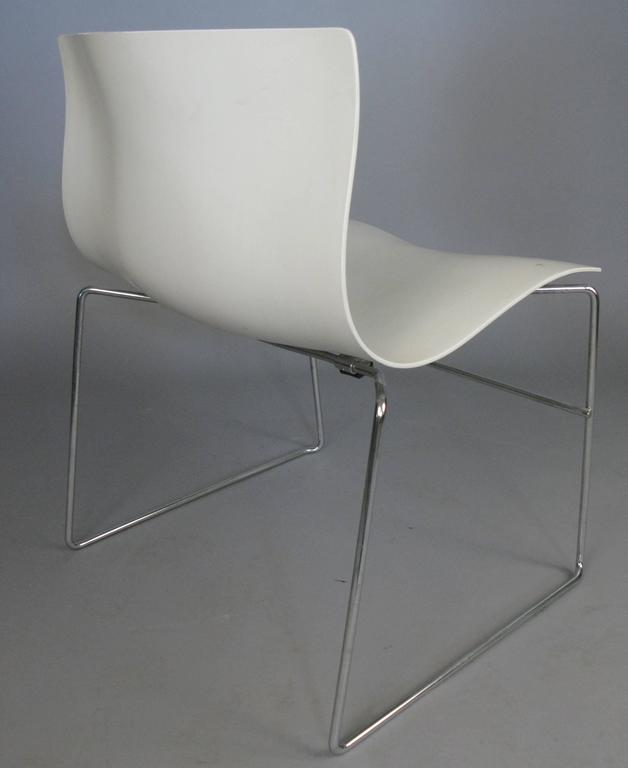 Mid Century Modern Set Of Six Handkerchief Chairs By Massimo Vignelli For  Knoll For Sale