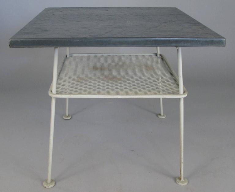 Vintage 1950s Sculptura Wrought Iron Table By Russell