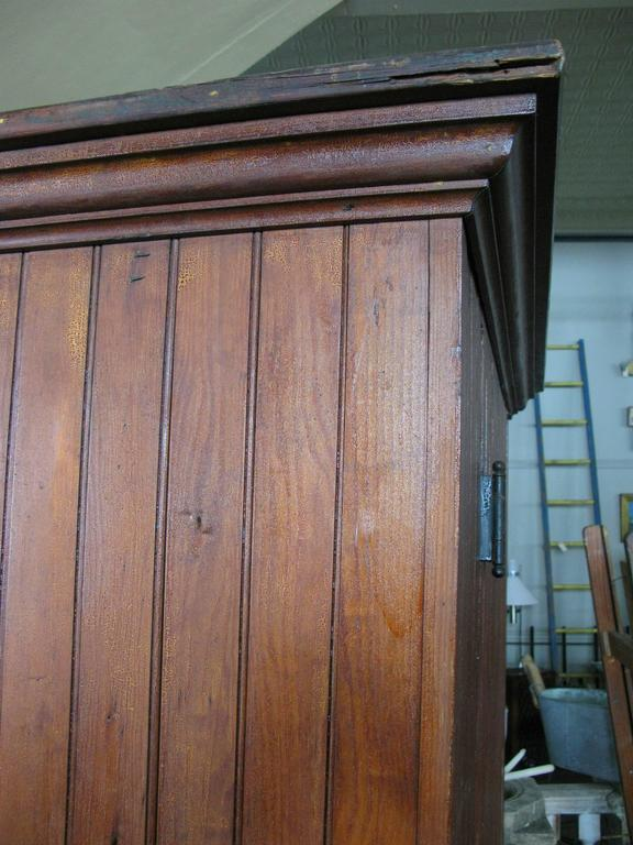 Antique Oak Beadboard Cupboard at 1stdibs