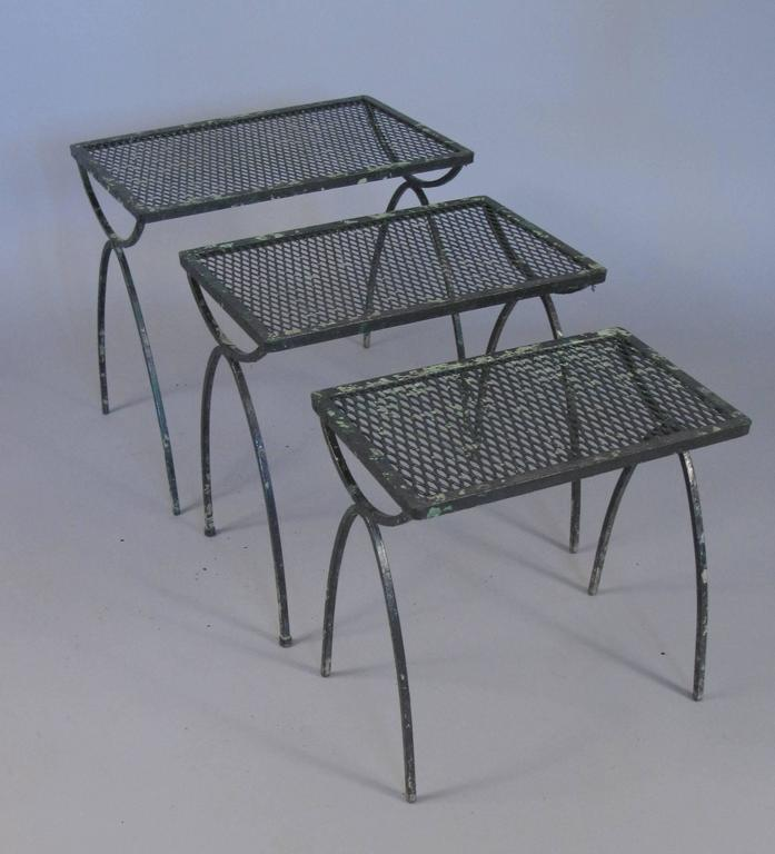 Incroyable A Set Of Three Vintage 1950s Wrought Iron Nesting Tables By Salterini From  The Radar Collection